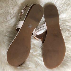 Coach Shoes - Coach patent leather Cream&Gold Sandals